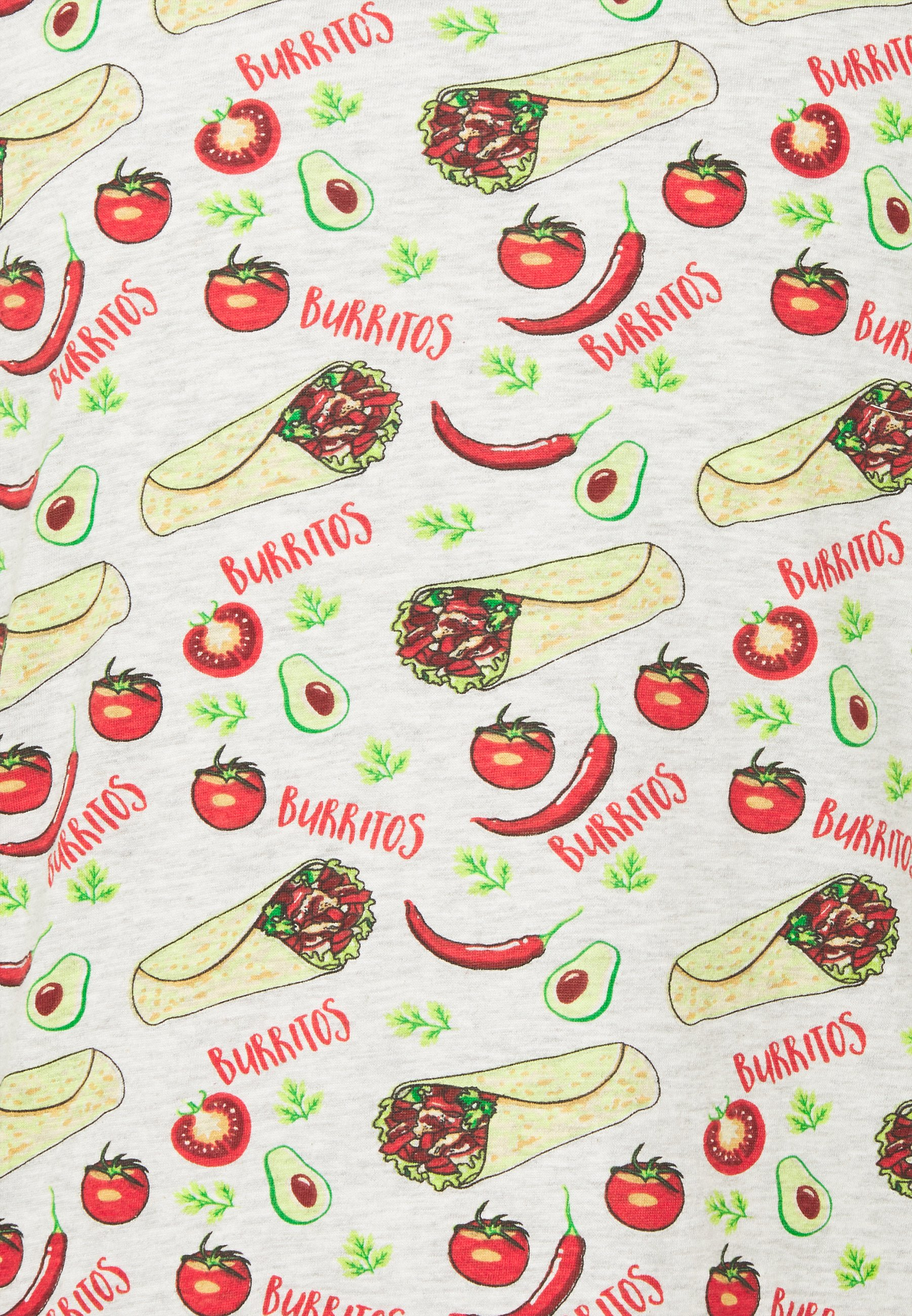 Brave Soul BURRITO - Print T-shirt - ecru marl KpC2o