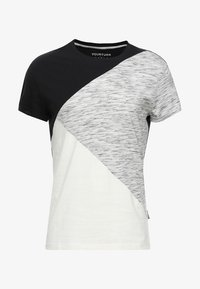 YOURTURN - Print T-shirt - black/off-white - 3