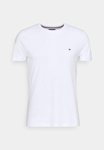 BACK LOGO TEE - T-shirt - bas - white