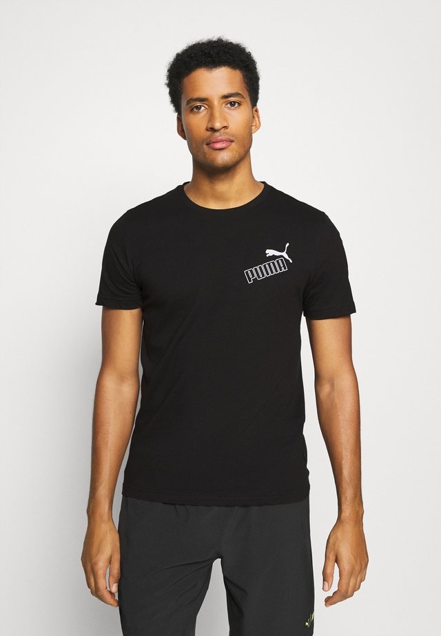AMPLIFIED TEE - T-shirt con stampa - black