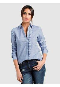 Alba Moda - Button-down blouse - marineblau weiß - 0
