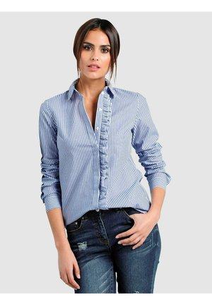 Button-down blouse - marineblau weiß