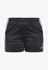 Fila Plus - TARIN HIGH WIASTED - Short - black/bright white - 3