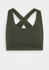 Cotton On Body - WORKOUT CUT OUT CROP - Light support sports bra - khaki - 0