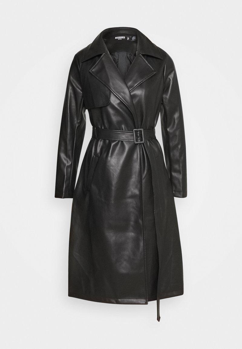 Missguided Petite - Trenchcoat - black