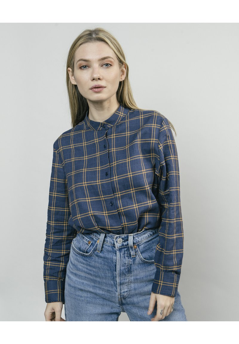 Brava Fabrics - WOODCUTTER ESSENTIAL - Button-down blouse - blue