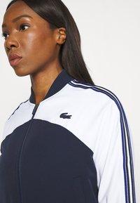 Lacoste Sport - TENNIS - Training jacket - weiß/navy blau - 3