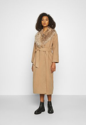 COLLAR COAT - Mantel - beige