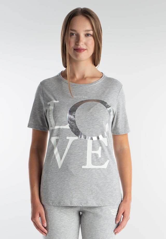LOVE - T-shirt print - light grey marl