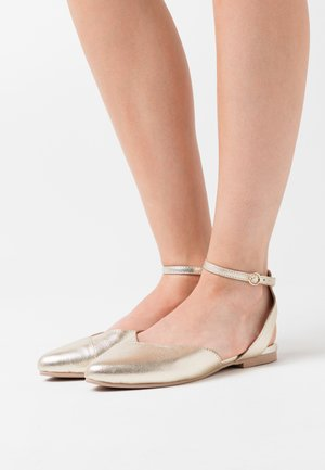 LEATHER  - Slingback ballet pumps - light gold