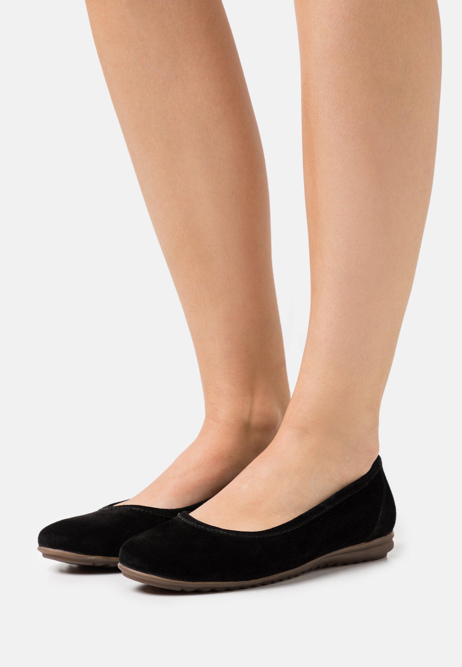 Women LEATHER COMFORT - Ballet pumps - black