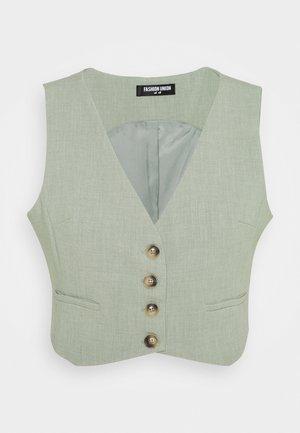 WAISTCOAT - Waistcoat - sage green
