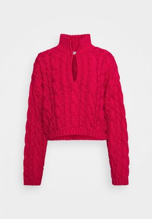 KEYHOLE OVERSIZED CROPPED - Maglione - pink