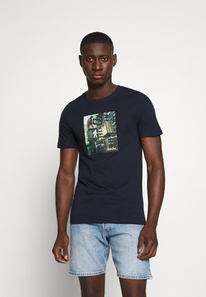 JJBARISTA TEE CREW NECK - T-shirt print - navy blazer