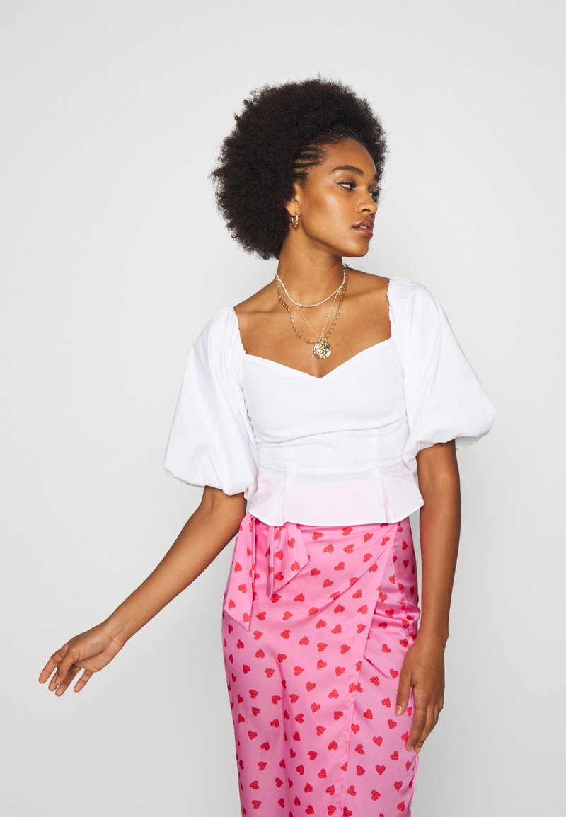 Never Fully Dressed - PINK HEARTS JASPRE SKIRT - Pencil skirt - pink