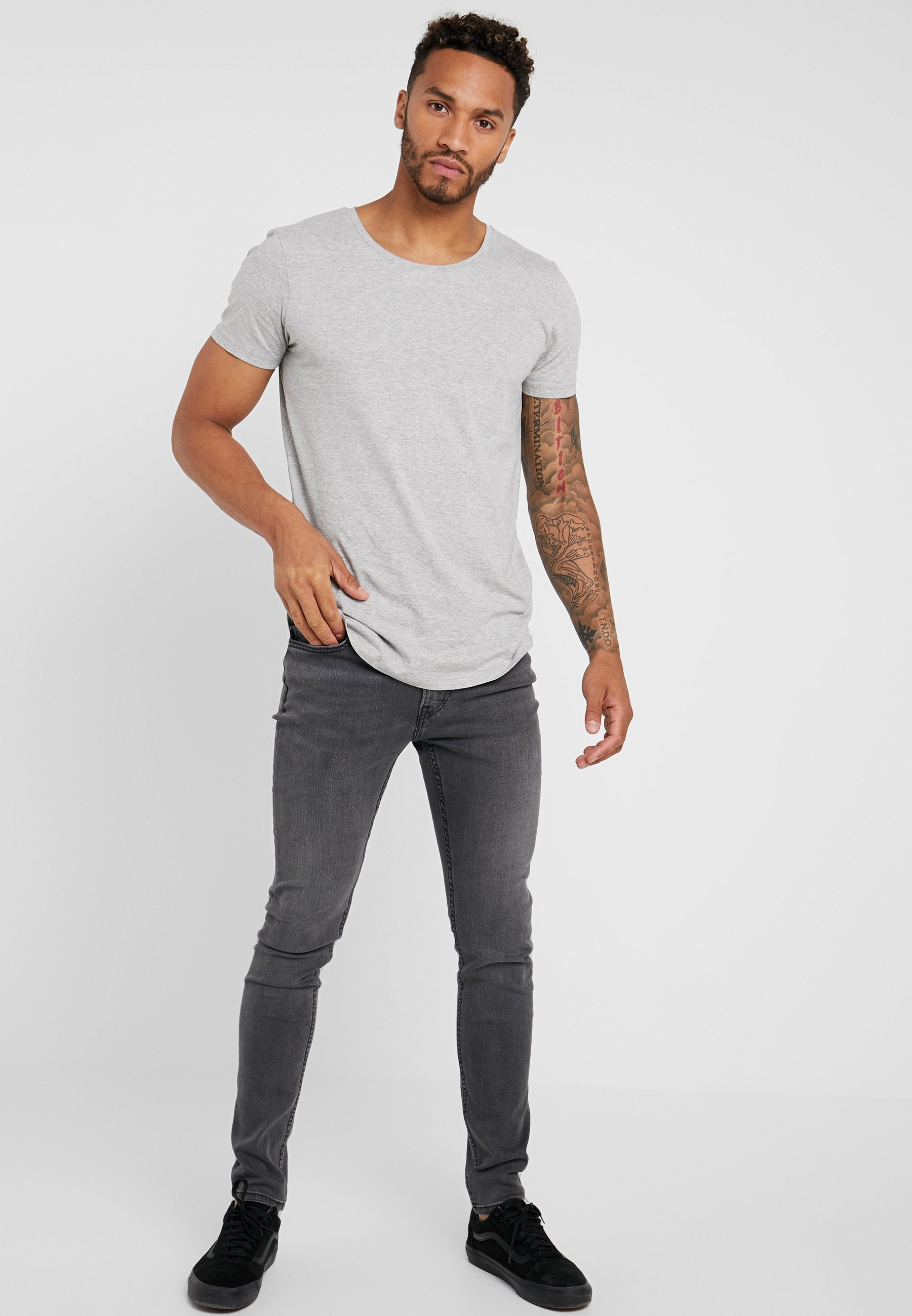 Lee Malone - Jeans Skinny Fit New Grey/svart Denim