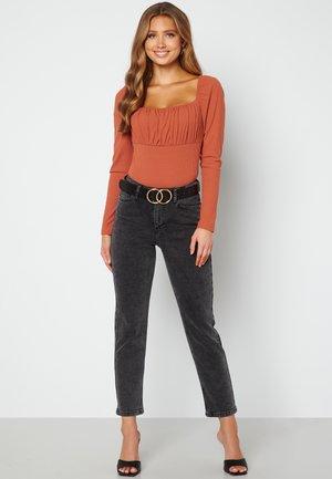 REGINA - Trousers - grey denim
