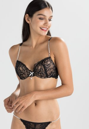 SEXY PEARL - Push-up bra - black/creme