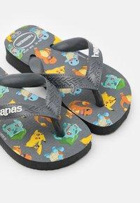 Havaianas - POKEMON - T-bar sandals - new graphite - 5