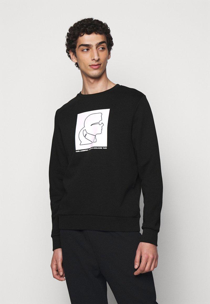 KARL LAGERFELD - Sweatshirt - black/white