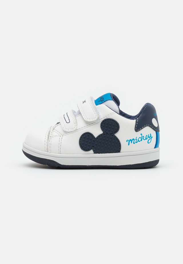 NEW FLICK BOY DISNEY - Baskets basses - white/navy