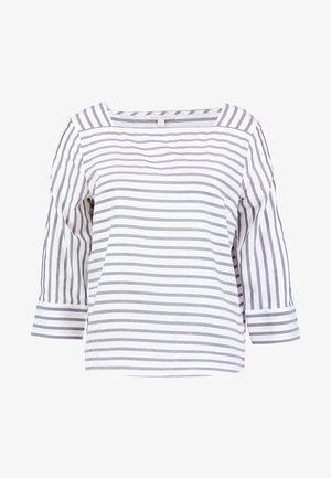 STRIPED CARREEBLOUSE - Bluser - navy white stripe