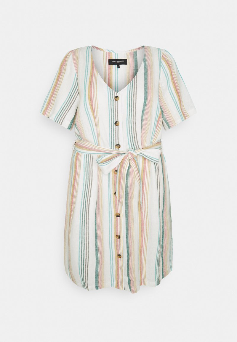 ONLY Carmakoma - CARSTACYI KNEE DRESS - Day dress - desert sage/multi