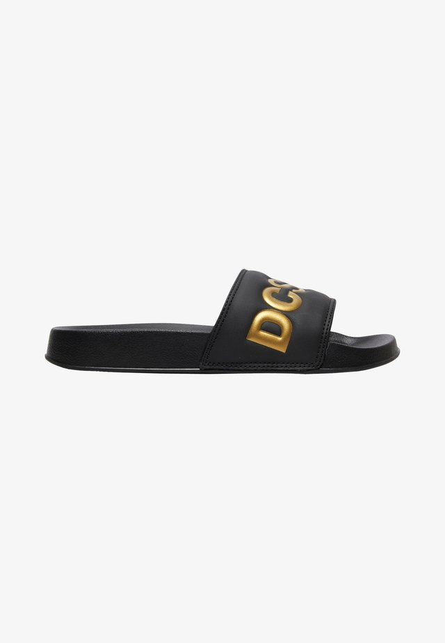 Pool shoes - black/gold