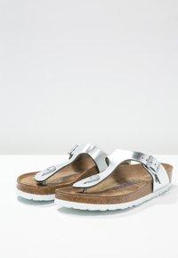 Birkenstock - GIZEH - T-bar sandals - metallic silver - 3