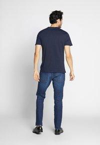 Pier One - 4 PACK - T-shirt basique - black/white/blue - 2