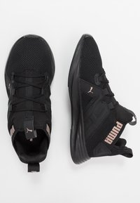 Puma - CONTEMPT DEMI - Zapatillas de running neutras - black/rose gold - 1