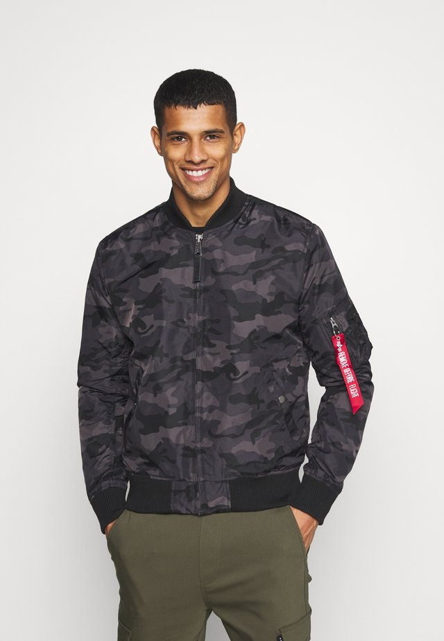 CAMO - Bomber Jacket - black