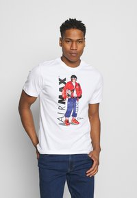 Nike Sportswear - TEE MANGA HYPEMAN - Print T-shirt - white - 0