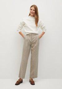 Mango - FIVE - Trousers - beige - 1