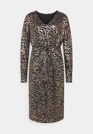 DRESS SHORT - Cocktail dress / Party dress - platin/black
