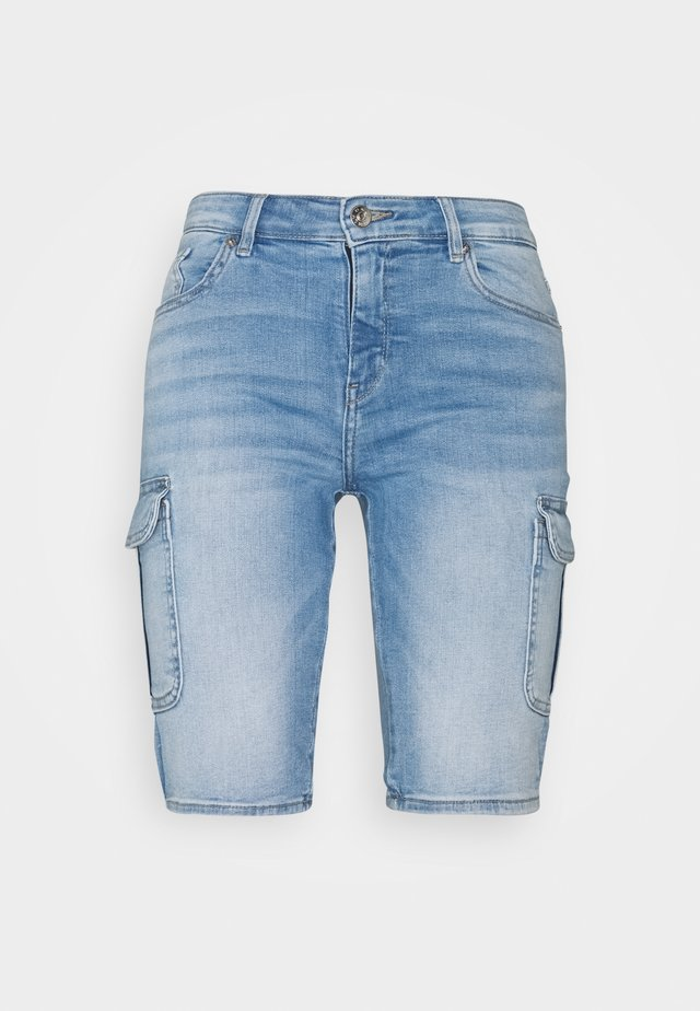 ONLMISSOURI LIFE CARGO - Denim shorts - light blue denim