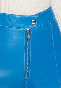 HOSBJERG - DEBBIE PANTS - Leren broek - blue - 4
