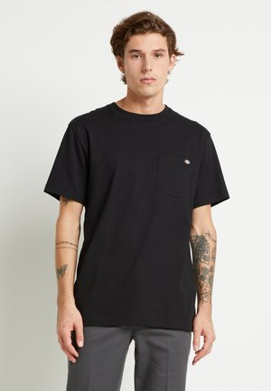 PORTERDALE POCKET - Basic T-shirt - black