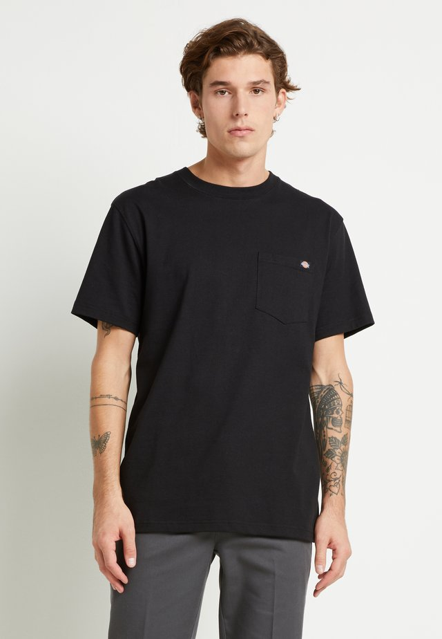 PORTERDALE POCKET TEE - T-shirt basique - black