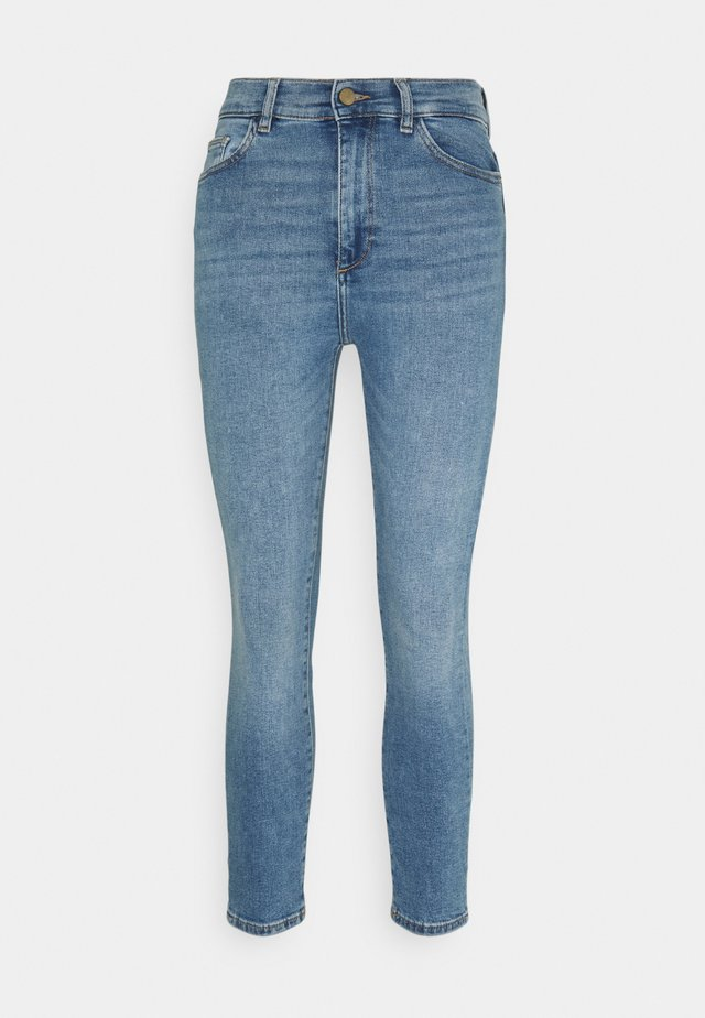 FARROW HIGH RISE INSTACULPT CROP - Jeans Skinny - marine