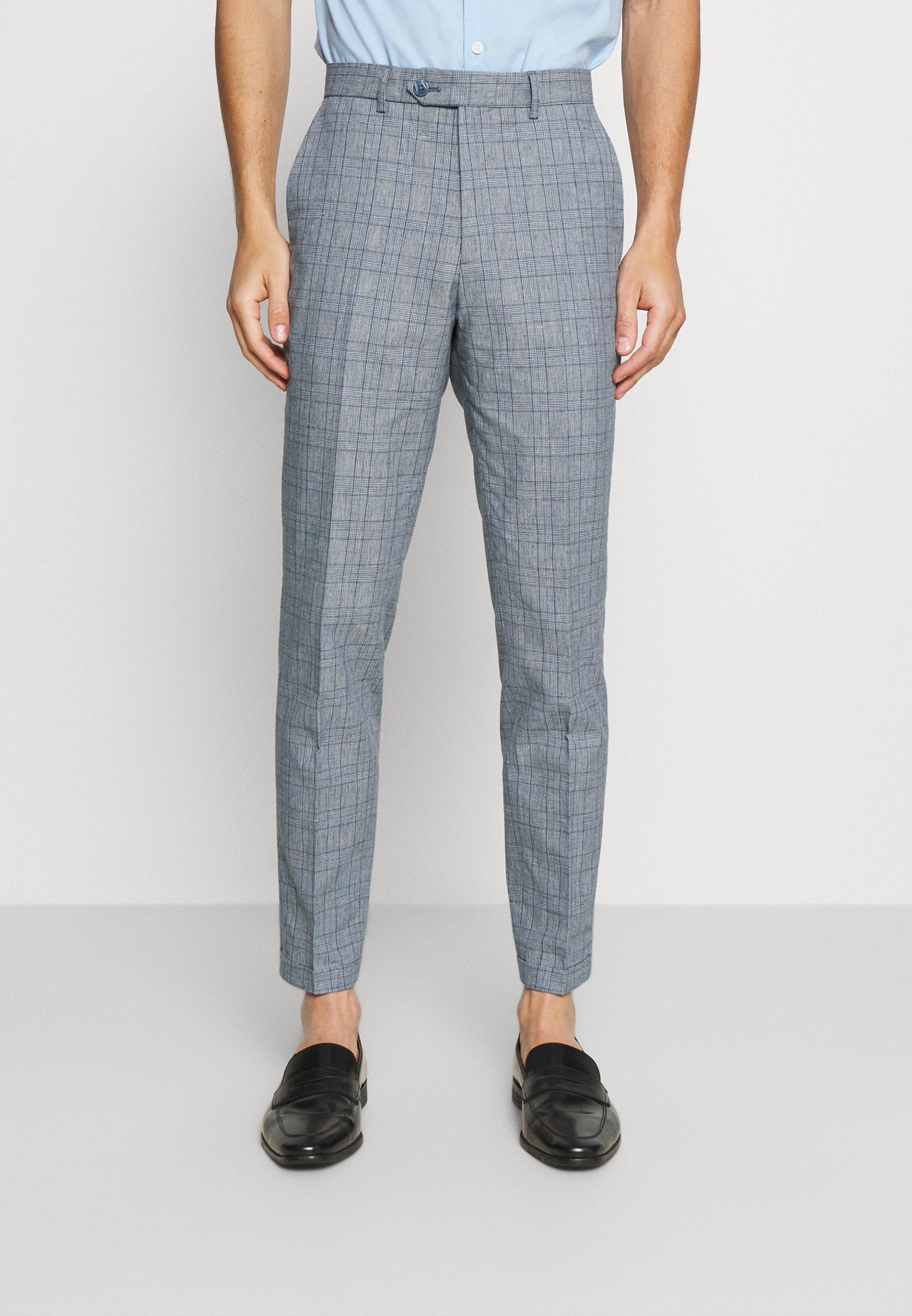 Homme JPRRAY CHECK TROUSER - Pantalon classique