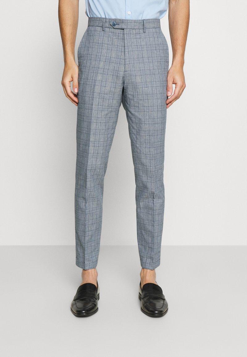 Jack & Jones PREMIUM - JPRRAY CHECK TROUSER - Trousers - grey melange