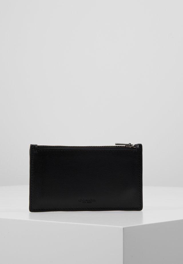 ZIP CARD CASE IN REFINED - Portafoglio - black