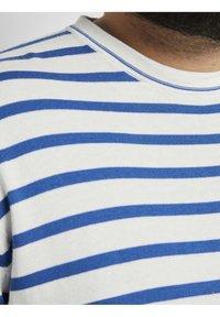 TOM TAILOR MEN PLUS - Jumper - white victory blue stripe - 3