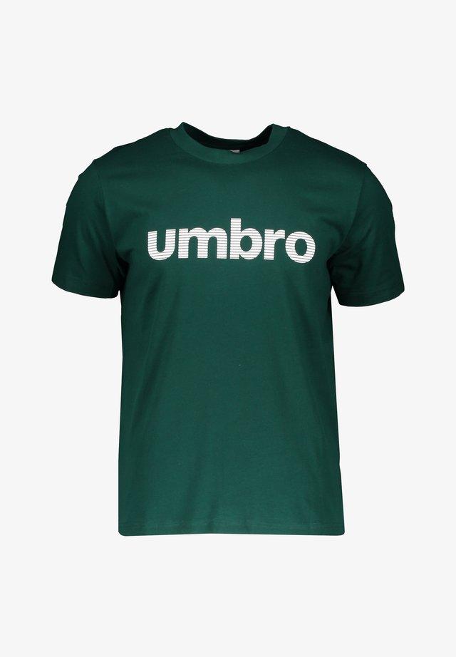 LINEAR LOGO - Sports shirt - gruenweiss