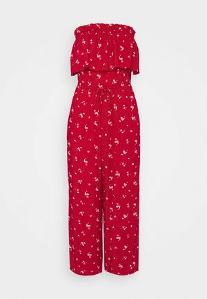 STRAPLESS - Jumpsuit - red