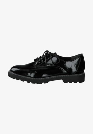 Stringate - black patent