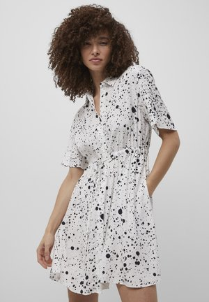 DROPLET DRAPE  - Shirt dress - summer white/black