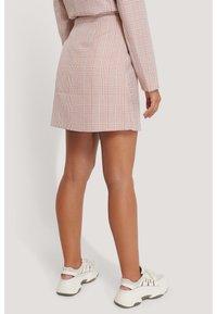 NA-KD - A-line skirt - pink/white - 2