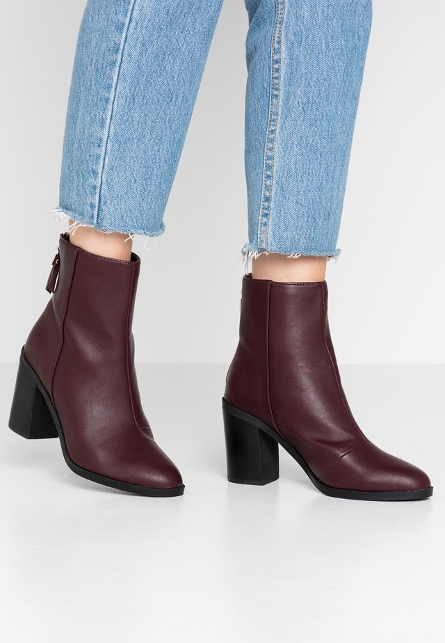 ARDEN - Korte laarzen - oxblood